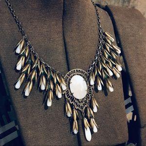 Sadie Green vintage opalescent tassel necklace